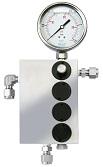 Back Pressure Regulator; 4 channel with manometer
